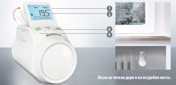 Програмируема термостатна глава Honeywell Thera Pro HR90