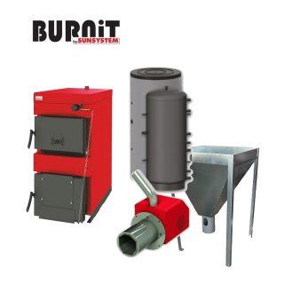 Комплекти отопление котел на твърдо гориво BURNiT WB,